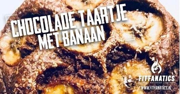 Chocolade taartje met banaan