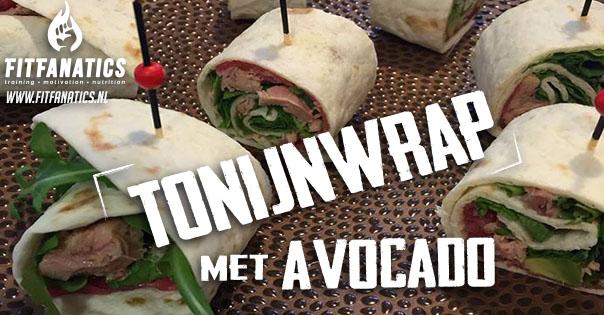 Tonijn wrap met avocado