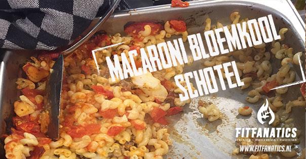 Macaroni bloemkool schotel