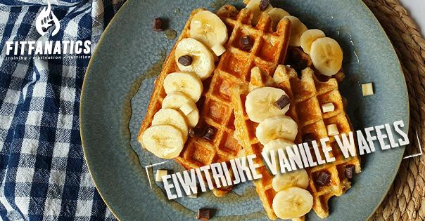 eiwitrijke vanille wafels